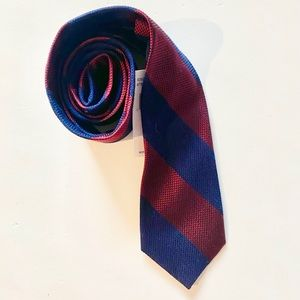 Tommy Hilfiger Men's Andy Stripe Tie, Red/Navy
